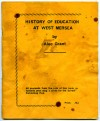 80. ID AG02_001 History of Education at West Mersea by Alec Grant - Cover.