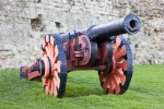 Demi-culverin cannon cast in 1587. Image with thanks to WyrdLight.com.  COR2_020_005