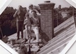 16. ID RG03_221 Topping Out. L-R Ron Pamment, Beverley Green, Ron Green, Bob Deal seated.