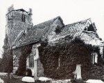 16. ID IA004743 Langenhoe Church following the 1884 Essex Earthquake. The church was rebuilt from old materials two years after the 1884 earthquake. However, following...