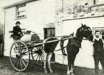 24. ID RG03_353 Abberton Water Cart. Eddie Smith holding the horse. The cart was used to supply water to the village from the well under the bakery. Eddie Smith donated land at...
