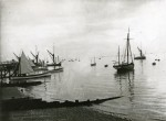 1. ID BOXB3_310_001_001 Beach boats and barges on the Southend shore about 1913. This photograph was taken to the east of Southend Pier and the town's gasworks jetty is at the exteme...