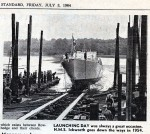 7. ID BOXL_041_001_001 LAUNCHING DAY was always a great occasion. HMS ICKWORTH goes down the ways in 1954. From Essex County Standard 3 July 1964.