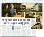 14. ID JMO_SAL_201 Why the sun had to set on village's only pub. Closure of The Sun Inn at Salcott. Article from Evening Gazette, 5 April 1995. 