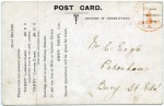 20. ID RG03_642 Back of postcard from Owen Parry Ltd, Oil Mills, Colchester. See ...