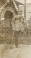 164. ID RUD_BK3_027 Tom Smith, son of Mary Overall Smith who lost his leg on the Western Front in WW1, as mentioned in Not Just a Name, page 25. 