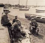 6. ID IA01_881 Sea Scouts on the Mersea foreshore. The late Hugh Markham.