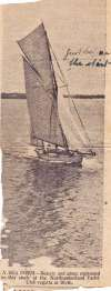 A Sea Poem - Beauty and grace expressed in this study at the Northumberland Yacht Club regatta at Blyth.