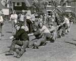 Peldon Tug of War Team at West Mersea Lifeboat Fete, 1973. 