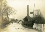 11. ID MMC_P755_117 Peldon Steam Mill and Windmill, looking towards the Rose Inn. Posted to Miss Smith at the Fountain, West Mersea - see MMC_P755_117_001 for the reverse. It has...