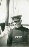 Ernest Appleton on board SAUNTERER, Royal Northumberland Yacht Club.  PBIB_APP_042